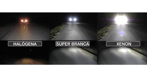 par de lâmpadas focus 2004/2016 super branca farol baixo