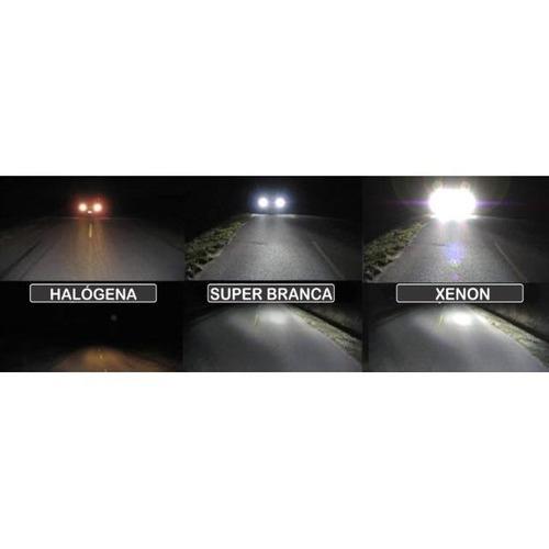 par de lâmpadas fox 2010/2016 super branca farol baixo