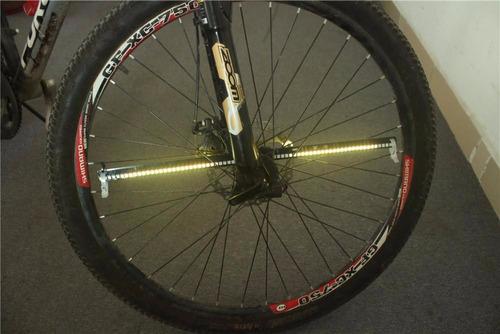 par de luces led para bicicletas varios colores rin 24 y más