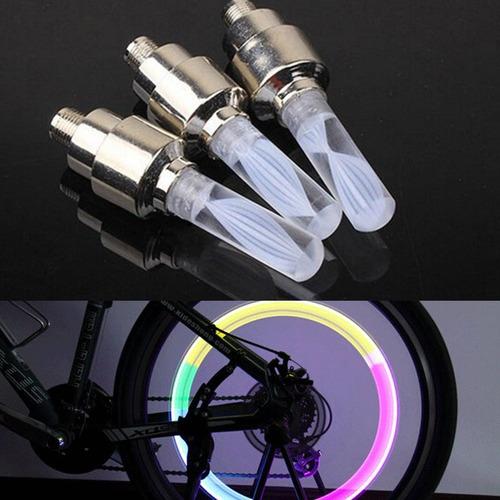par de luces led valvula rueda para moto bicicleta y auto