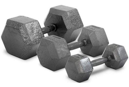 par de mancuernas fundicion 6 kg pesa 100% metal maciza