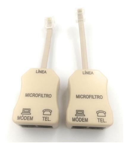 par de microfiltros para línea telefónica