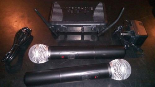 par de microfono inalambrico parquer 40 mts garantia oficial