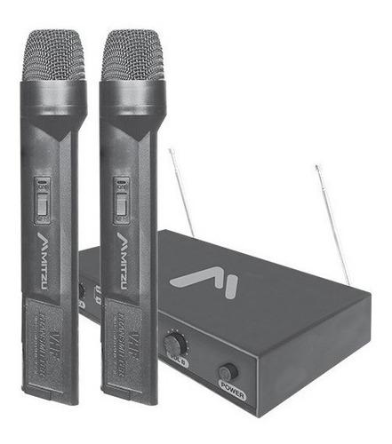 par de microfonos inalambrico dimamicos 50m karaoke 3004