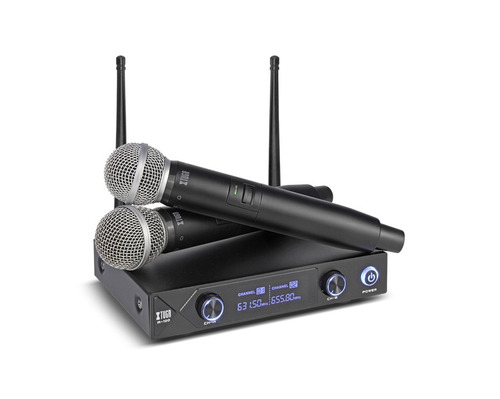 par de microfonos inalambricos uhf hasta 80m  xtuga