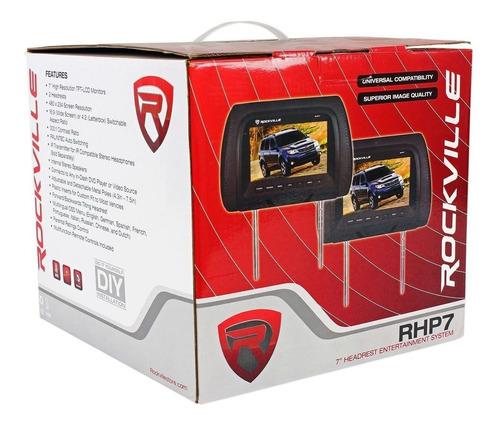 par de monitor para auto rockville rhp7-bk 7 importado
