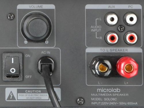 par de monitores ativos microlab solo 6c 2.0 100w rms
