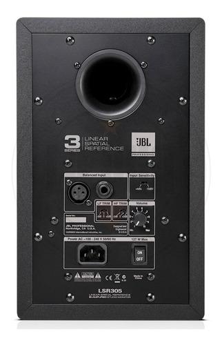 par de monitores jbl lsr305 de estudio activos