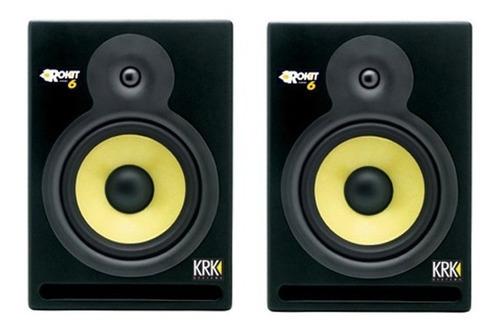 par de monitores krk rokit 6 powered rp6 - 1ª geração - 110v