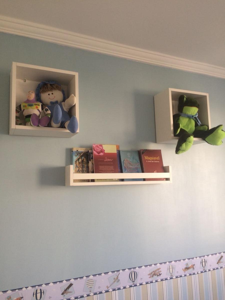 Par De Nicho E Prateleira Livros Quarto Infantil 100 Mdf R 110  ~ Decoração De Quarto Infantil Com Nichos E Prateleiras