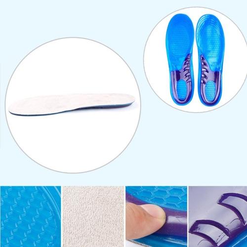 par de palmilha inteira silicone gel ortopédica anti impacto