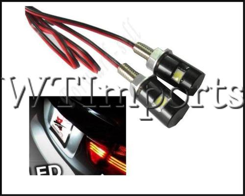 par de parafuso de placa luz led moto/carro - pronta entrega