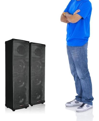 par de parlantes bluetooth karaoke master g pro tower
