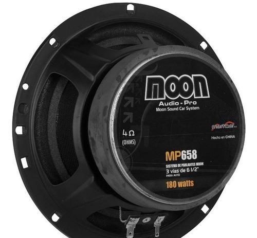 par de parlantes para auto 3 vias 180w 3v 6,5´´ moon mp658