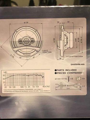 par de parlantes pioneer tsa1686s 16cm 350w. tope de línea
