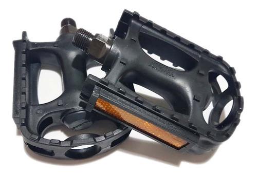 par de pedales - resina - rosca 9/16 - eje de acero