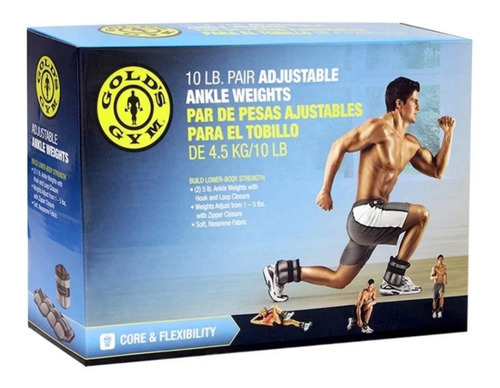 par de pesas polainas ajustables10 libras golds gym