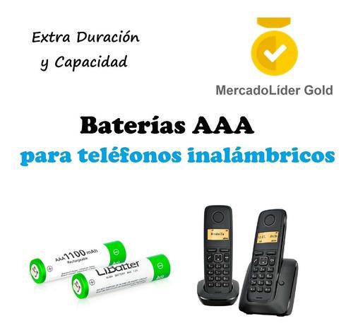 par de pilas / baterias recargables aaa   telefonos inalamb
