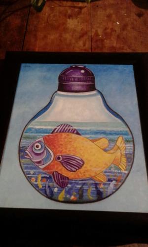 par de pinturas oleo en tela