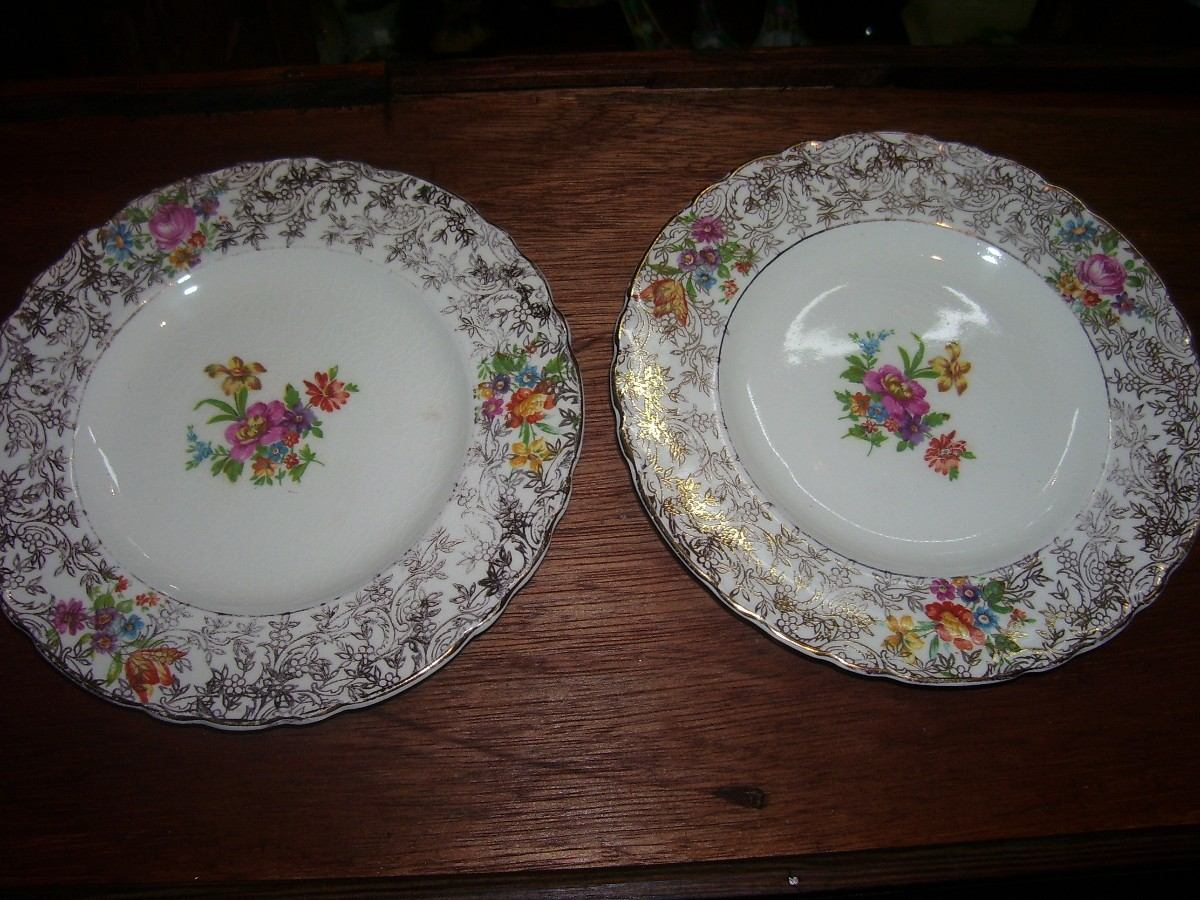 Par de platos de porcelana sellados royal england 450 for Platos porcelana