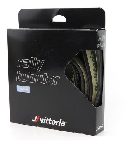 par de pneu tubular vittoria rally 700x25  preto, 2 unidades