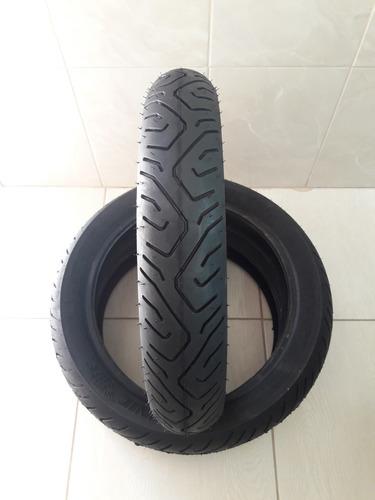 par de pneus 130/70-17 e 100/80-17 technic twister fazer 250