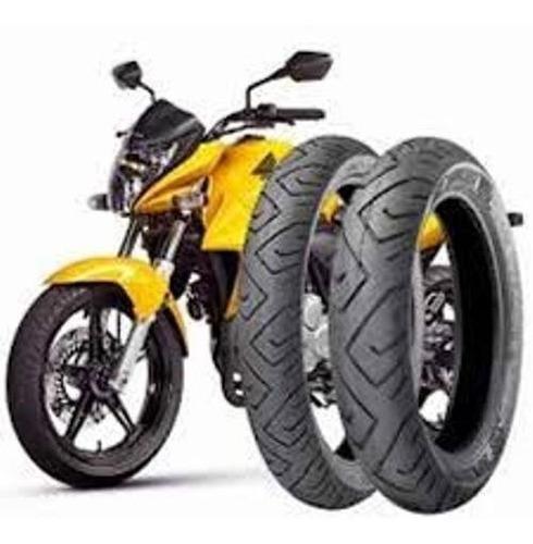 par de pneus 130/70-17 e 100/80-17 technic twister fazer250
