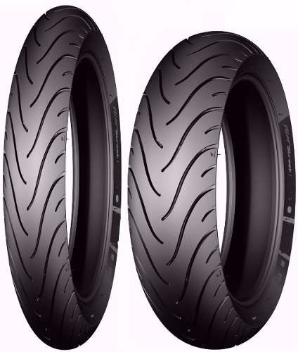 par de pneus michelin honda biz 125 e pop 100 mais largo