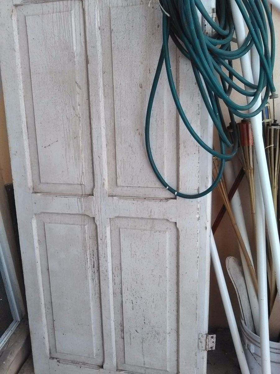 Par de puertas de madera antiguas blancas 3 en for Puertas interiores antiguas madera
