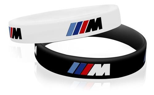 par de pulseiras de silicone bmw motorsport + frete grátis
