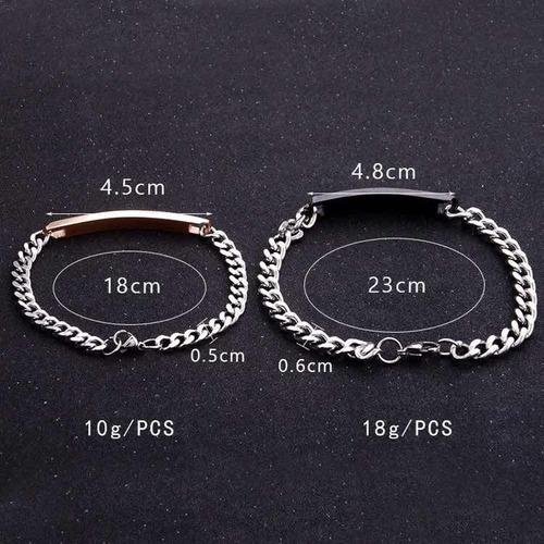 par de pulseras ajustables para pareja king queen esclavas