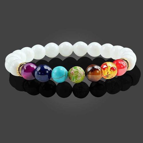 par de pulseras para pareja 7 chakras