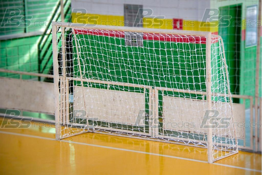 Par De Rede De Futsal Fio 3mm Nylon - Pronta Entrega - R  110 a170570a77398