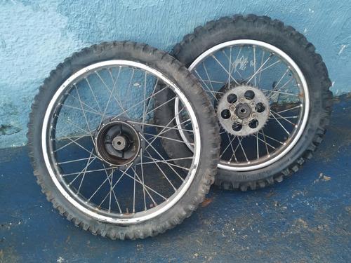 par de rodas dt 180 com pneus