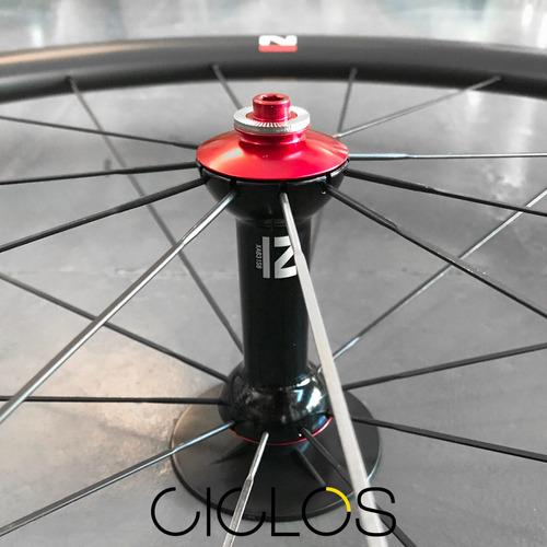 par de ruedas novatec r5 carbono ruta clincher - ciclos