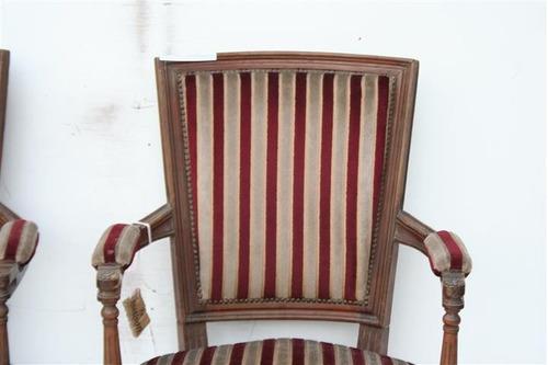 par de sillones luis xvi