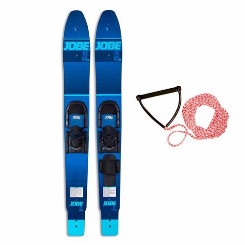 par de ski esqui acuatico jobe hemi principiante + manillar