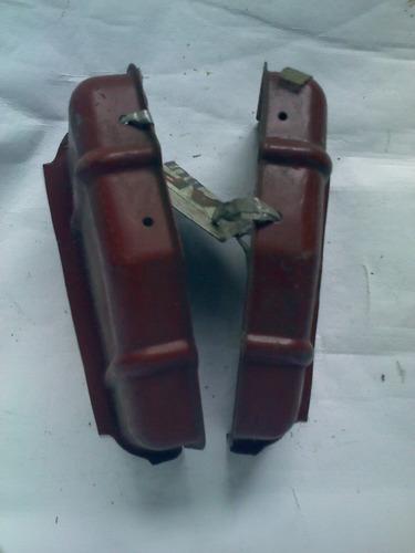 par de suporte bojo lanterna variant 1 tl original vw de época, alojamento proteção chapa reforço interno fixação, fotos