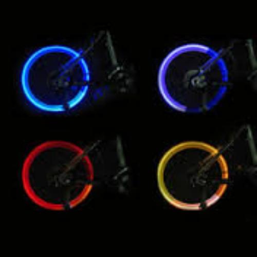 par de tapas de valvula aire con luces led para rueda