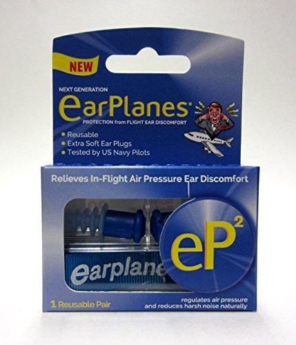 par de tapones de oídos reutilizables 1 earplanes® ep2