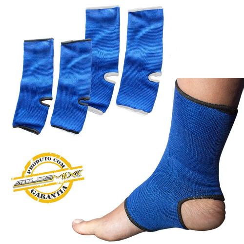 par de tornozeleira elástica esportiva fitness compressão