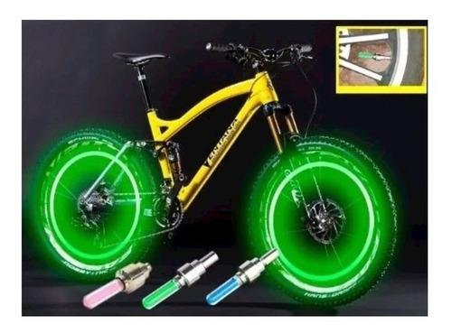 par de válvulas con luz para bicicleta, moto, vehículo