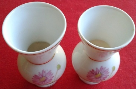 par de vasos antigos porcelana schmidt  - cu