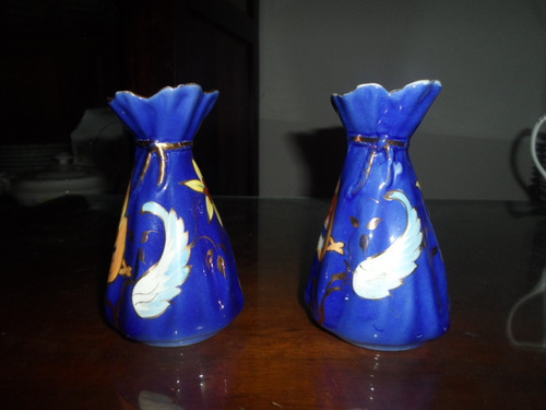 par de vasos azul de porcelana zappi