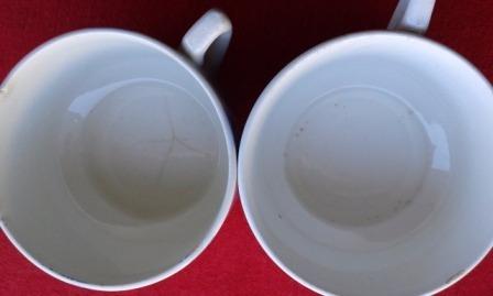 par de xícaras antigas - sem marca  - cu