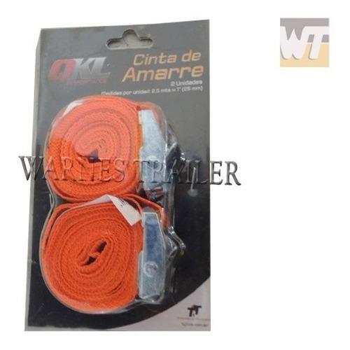 par de zunchos cinta de ajuste suncho 2,5 mts x 25 mm