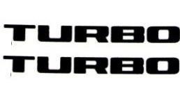 par dois adesivos turbo laterais preto l200