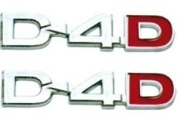 par dois emblemas d4d d-4d lateral hilux 05/... toyota hilux