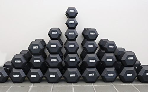 par dumbbell hexagonal crunch 25 kg - halteres 25kg promo