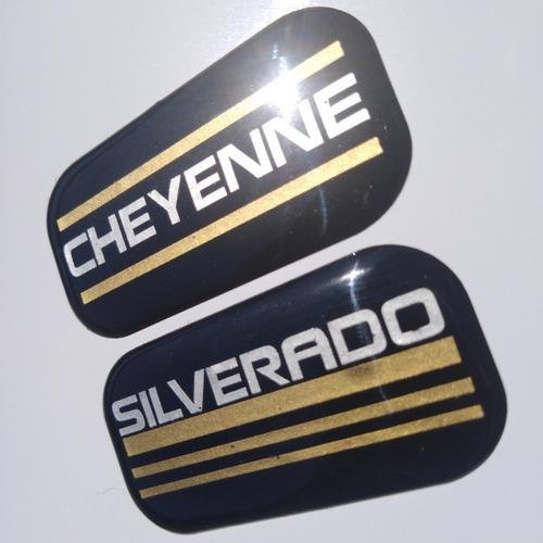 par emblemas chevrolet cheyenne, silverado, blazer ls en gel